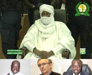 """Hissene Habré et son équipe de la """"vraie défense""""."""